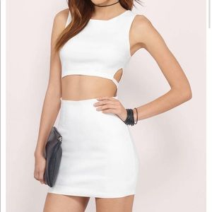 Tobi IN YOUR DREAMS IVORY BODYCON DRESS